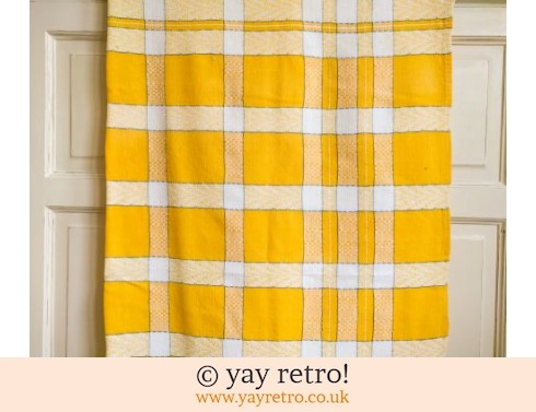 0: Vintage Yellow Check Tablecloth (£14.00)