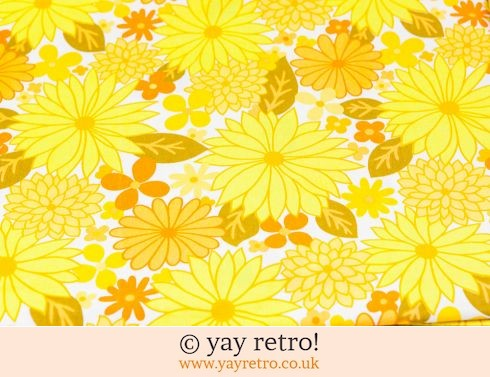 0: Vintage Yellow Flowery Single Sheet - Stunning (£23.50)