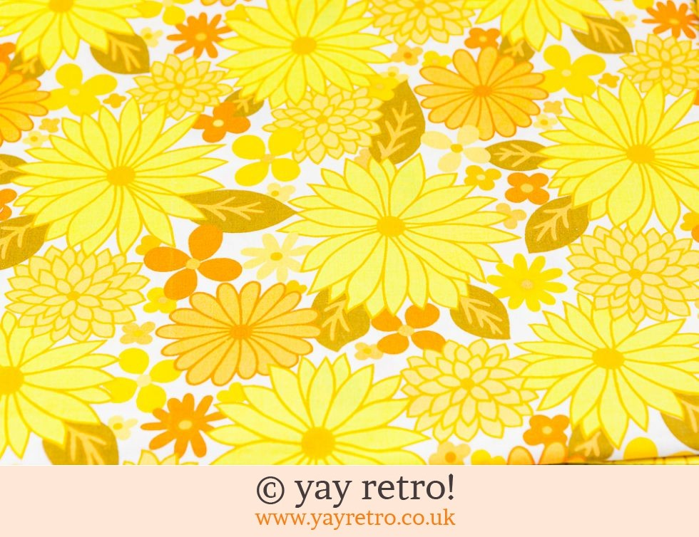 Vintage Yellow Flowery Single Sheet - Stunning (£23.50)