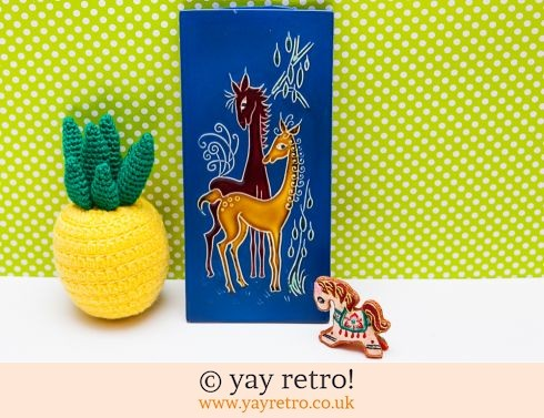 0: Vintage Wall Plaque Kitsch Horses + Free Embroidered Horse! (£8.00)