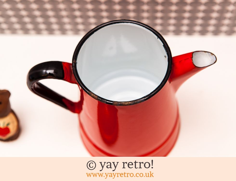 Vintage 70s Red Enamel Coffee Pot (£18.00)