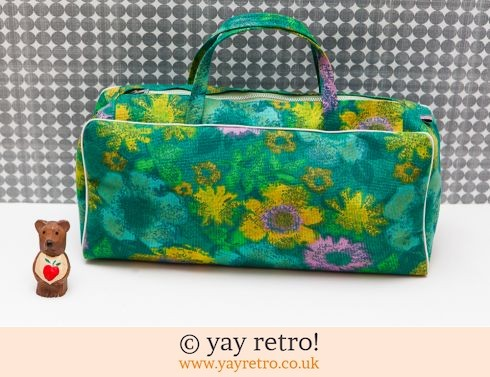 0: Vintage Floral Bag Green & Purple (£12.75)