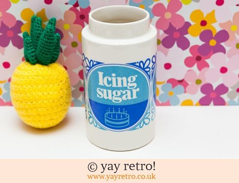 34: Tate & Lyle Icing Sugar Utensil Holder / Vase (£10.00)