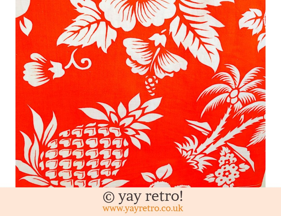 Orange Pineapple Tiki Cotton (£5.00)