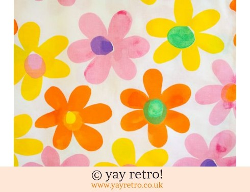 Flower Power Cotton Fabric - Large Amount (£18.00)