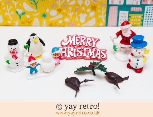0: Vintage Kitsch Christmas Cake Decorations x 9 (£7.00)