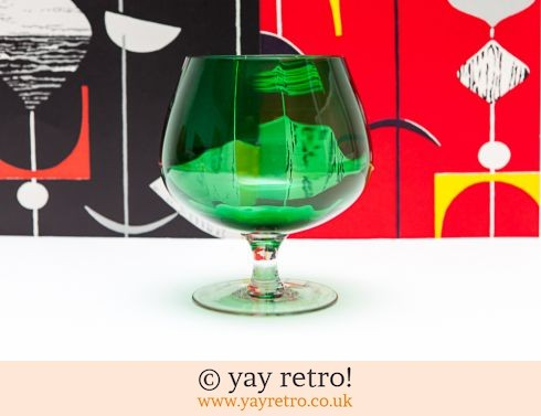 0: Green Vintage Brandy Glass vase (£6.50)