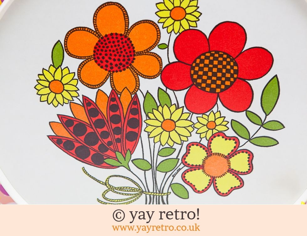 Superb Flower Power 1970s Tray (£22.00)