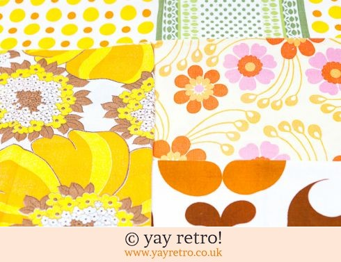 0: Yellow & Orange Vintage Scrap Pack 1960/70s (£7.00)
