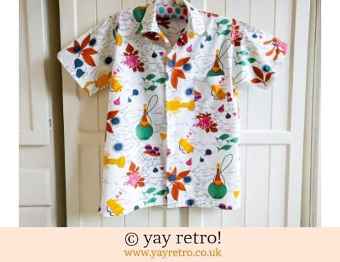 Incredible Kitsch  Vintage Shirt - Lobsters & Chianti! (£19.00)