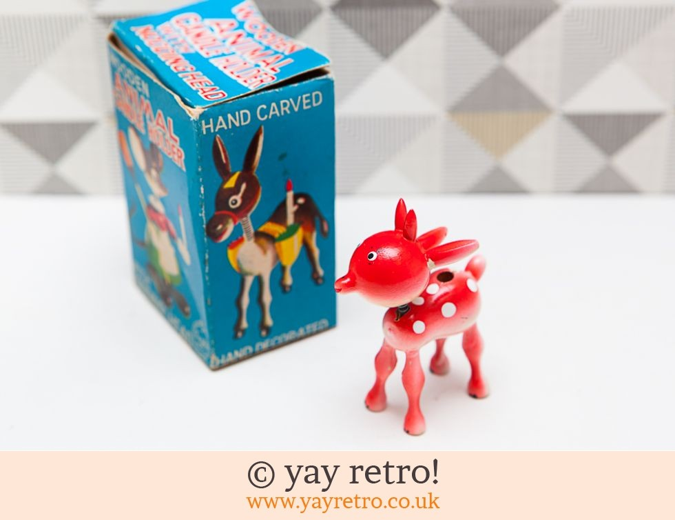Very Rare Vintage Wooden Deer in Box (£16.00)