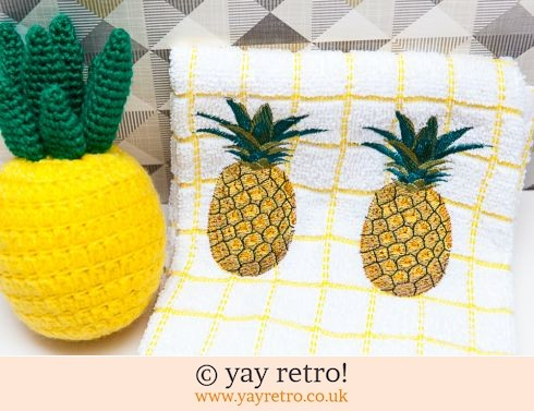 0: Pineapple Tea Towel Check (£7.50)