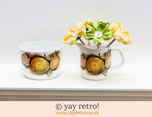 Vintage Jug & Sugar & Fabric Flowers (£12.80)