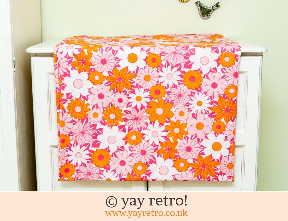 Pink/Orange Daisy Sgl Duvet Cover (£12.50)