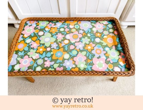 Flower Power Vintage Folding Flowery Table (£39.50)