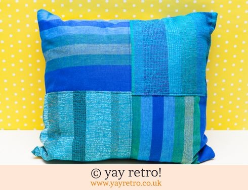 0: Vintage Check Patchwork Cushion (£13.00)
