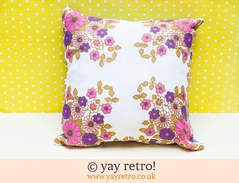 0: Pink & Purple Flowery Vintage Cushion (£12.00)