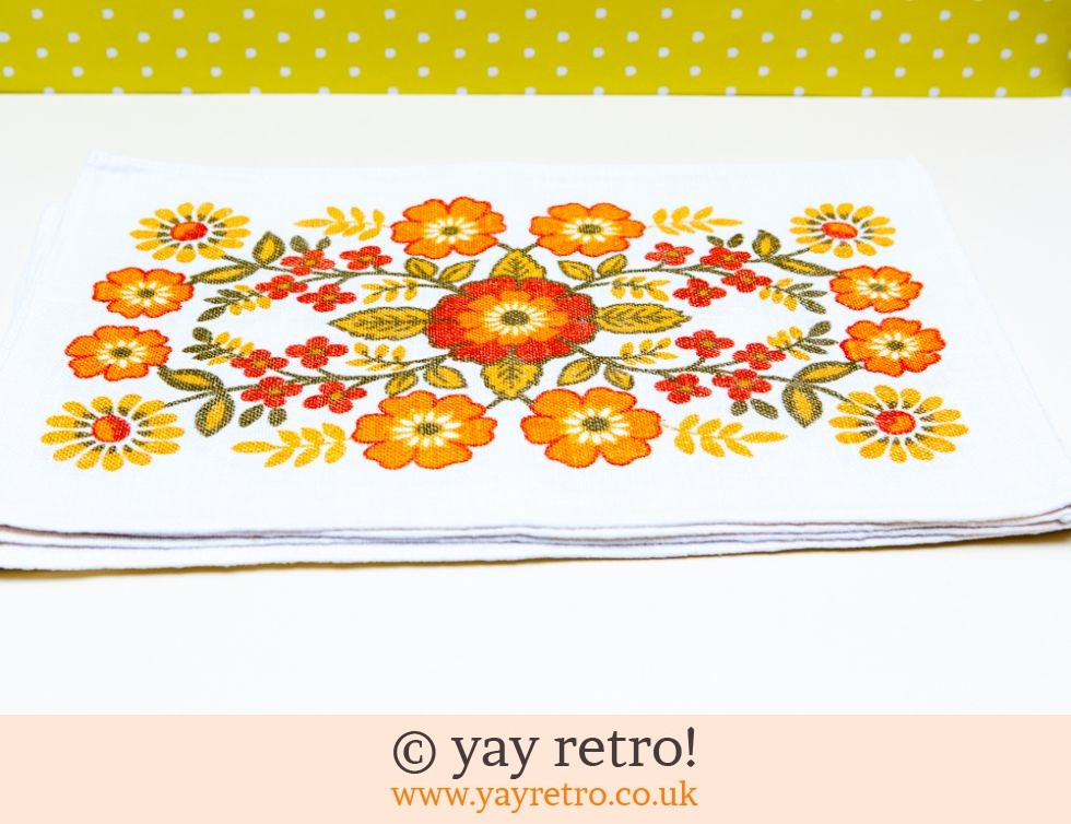 Flower Power Linen Tablemats (£16.50)