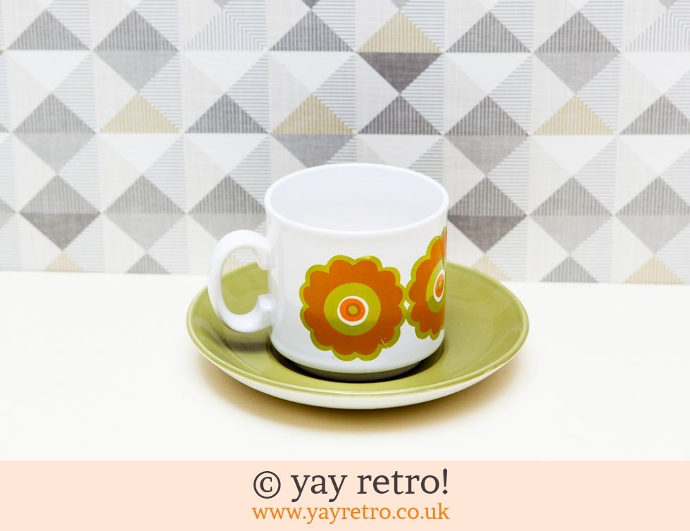 Funky Daisy Cup Saucer Vintage Shop Retro China
