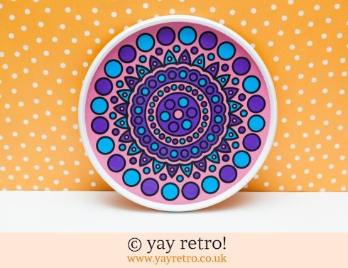 224: Purple Dotty Vintage Tray (£19.95)