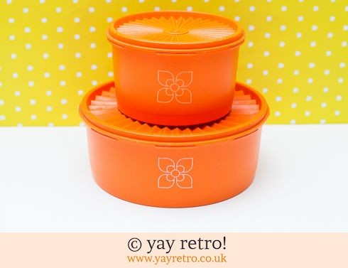 46: Orange Harvest Tupperware x 2 (£19.50)