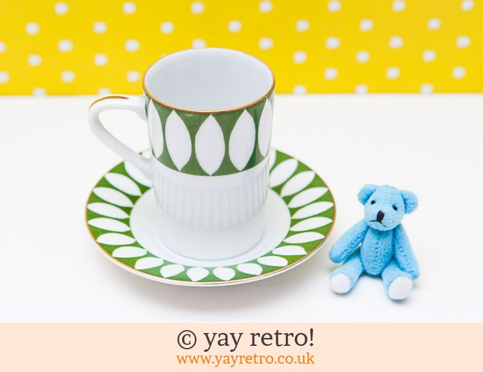 Funky Cup Saucer Teddy Set Vintage Shop Retro China