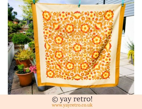 0: Flower Power Yellow & Orange Tablecloth (£22.00)