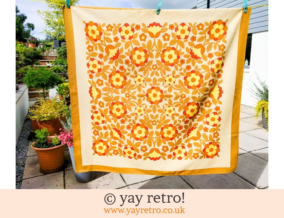 Flower Power Yellow & Orange Tablecloth (£22.00)