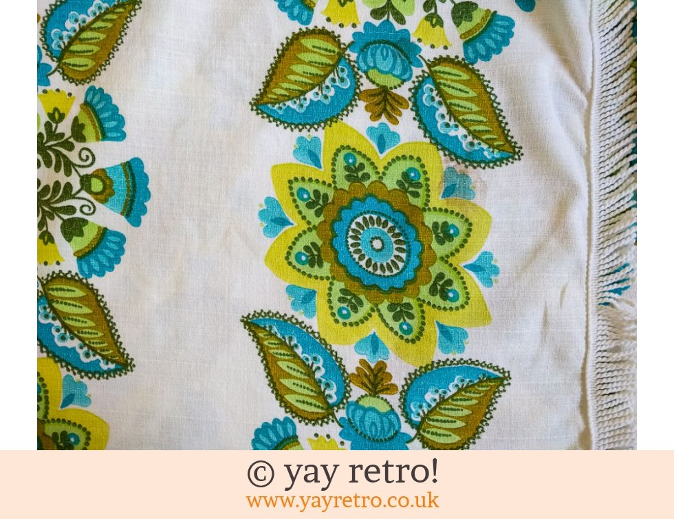 60/70s Green & Turquoise Funky Tablecloth (£21.50)