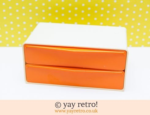 0: Orange & Cream Storage Unit (£22.00)