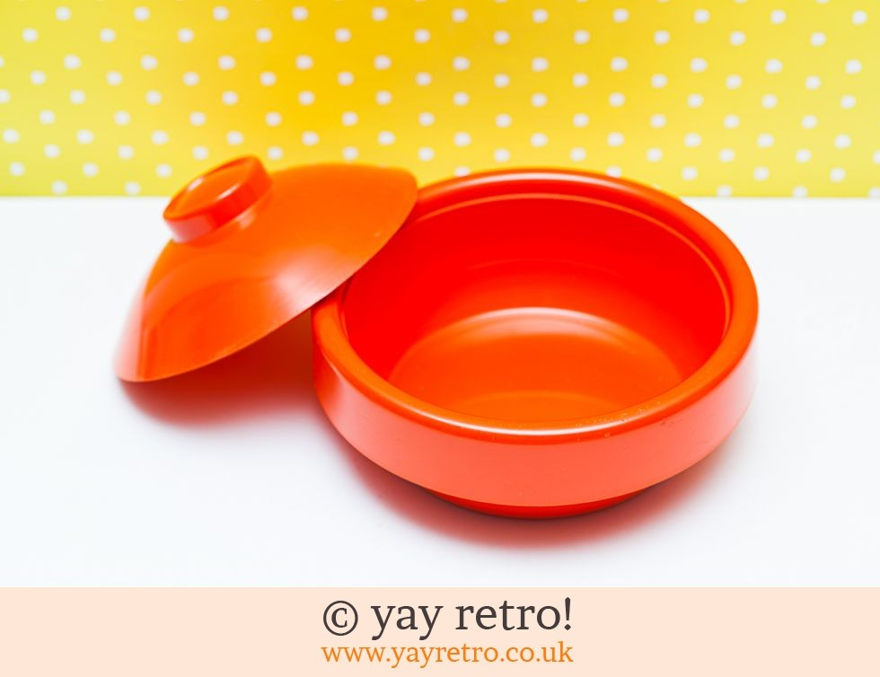 Orange Melamine Lidded Serving Bowl (£9.00)
