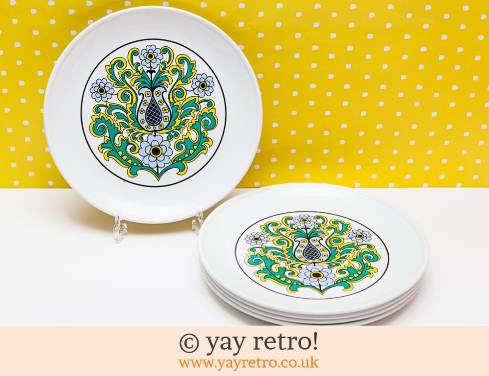Funky 60/70s Dinner Plates (£12.00)  sc 1 st  Yay Retro & Funky 60/70s Dinner Plates - Vintage Shop Retro China Glassware ...