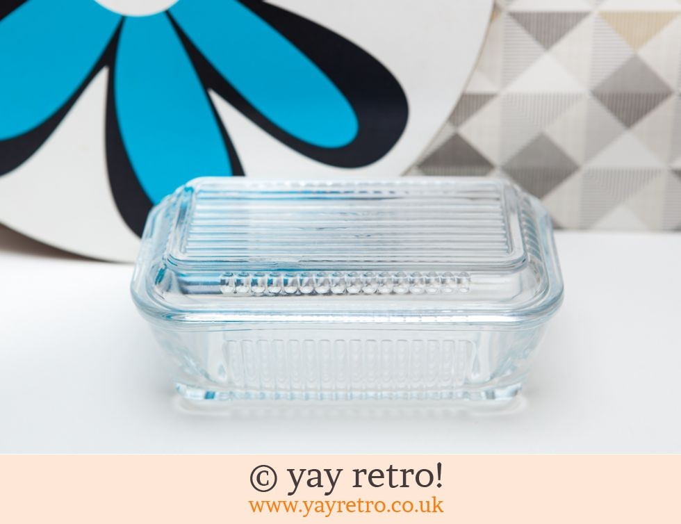 Vintage Glass Butter Dish (£8.00)