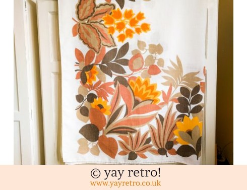 0: Orange Flowery 60/70s Tablecloth (£19.00)