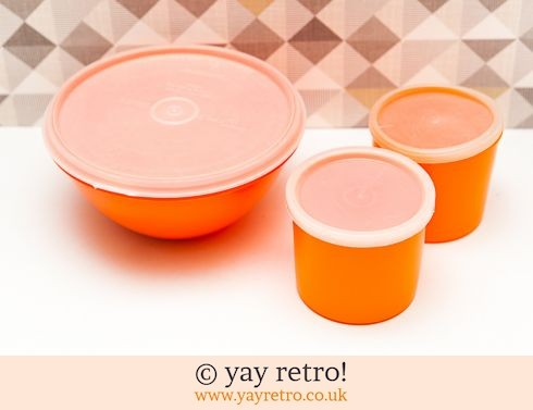 46: Orange 1960/70s Tupperware Storage Containers (£6.50)