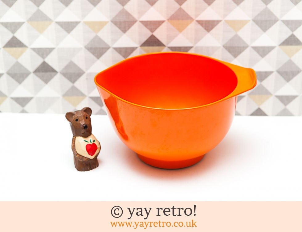 Addis: Orange Vintage Melamine Mixing Bowl (£9.00)