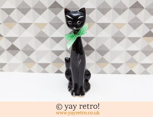 0: Mid Century Black Cat Vase (£9.50)
