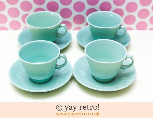58: Beryl Cups and Saucers x 4 (£18.50)