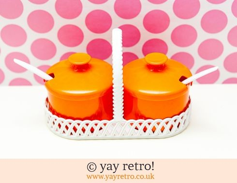 309: Orange Preserve/Sauce Pot Set (£12.00)