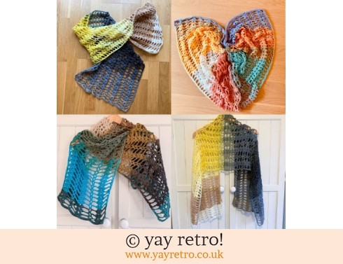 152: Pre-order a 'Love Hearts' Crochet Shawl/Scarf from yay retro (£22.50)