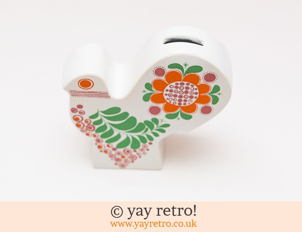 Ultra Rare Carltonware Peacock Bird Money Box (£56.00)