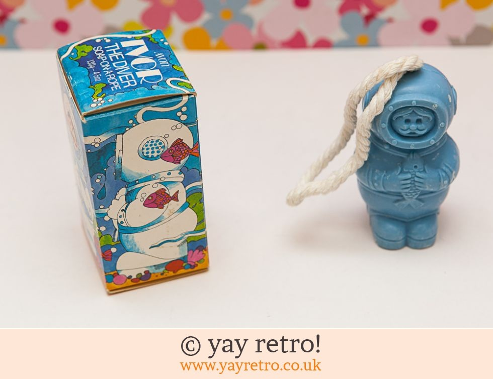 Vintage Avon Diver Soap on a Rope - Fab Graphics! (£4.25)
