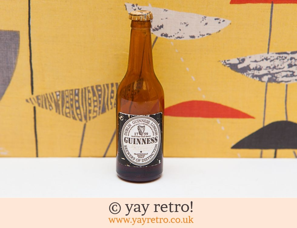 Guinness: Vintage Miniature Guinness Bottle (£4.50)