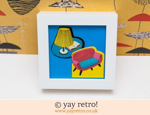 0: 1960s Chair & Lamp Framed Picture (£7.50)