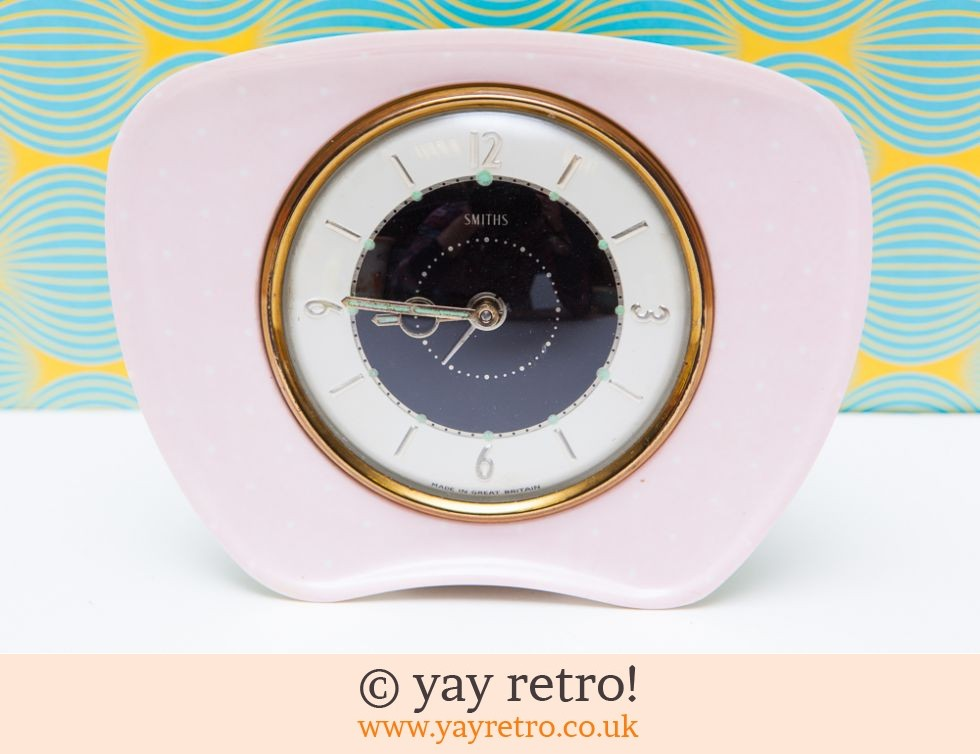Polka Dot 1950s Pink Alarm Clock Buy Yay Retro Handmade