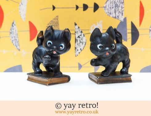 0: 50s Black Kitten Bookend Ornaments (£19.75)