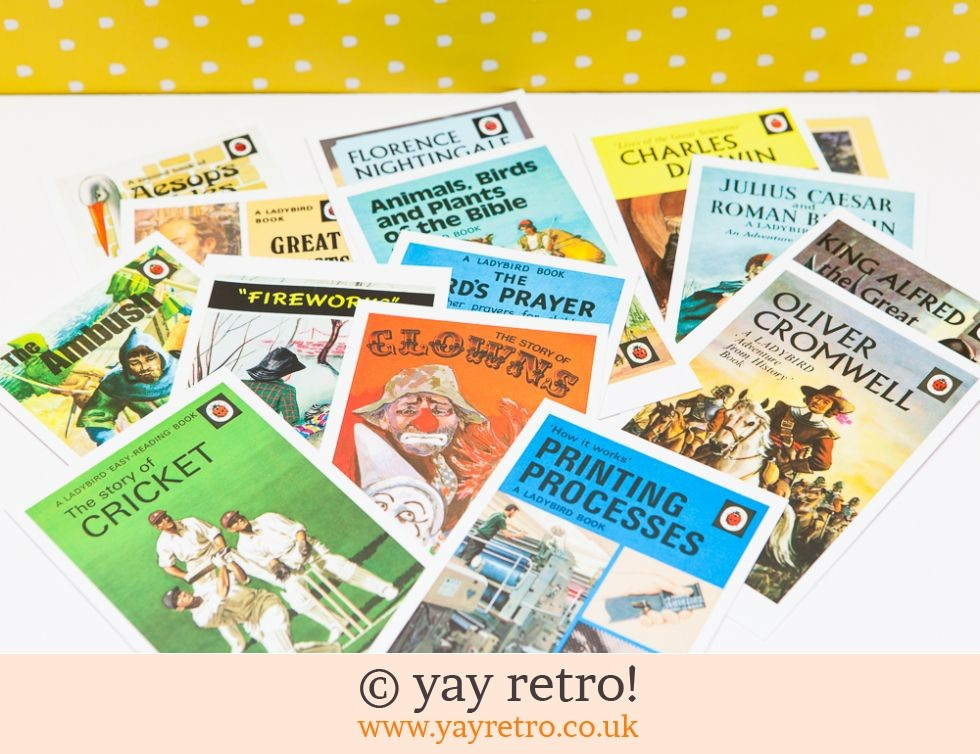 15 Ladybird Postcards (Multi) (£5.00)