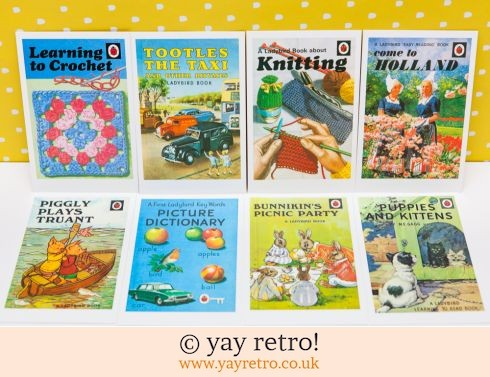 286: 8 Ladybird Postcards (inc Knitting/Crochet) (£5.00)