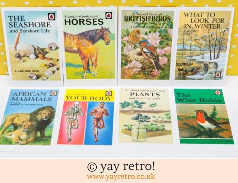 286: 8 Ladybird Postcards (Natural World) (£5.00)