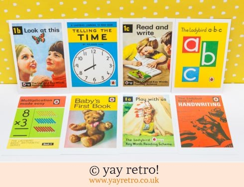 286: 8 Ladybird Postcards (Learning) (£4.50)